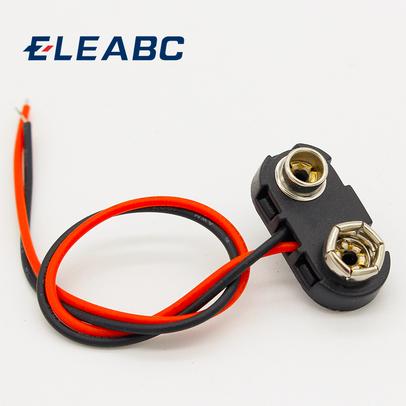 10pcs 9V Battery Snap Connector clip Lead Wires holder10pcs 9V Battery Snap Connector clip Lead Wires holder