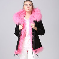 Pink Beach wool Fashion Winter Wool Jacket With Black Jacket For Winter Mrs Mr New Collections