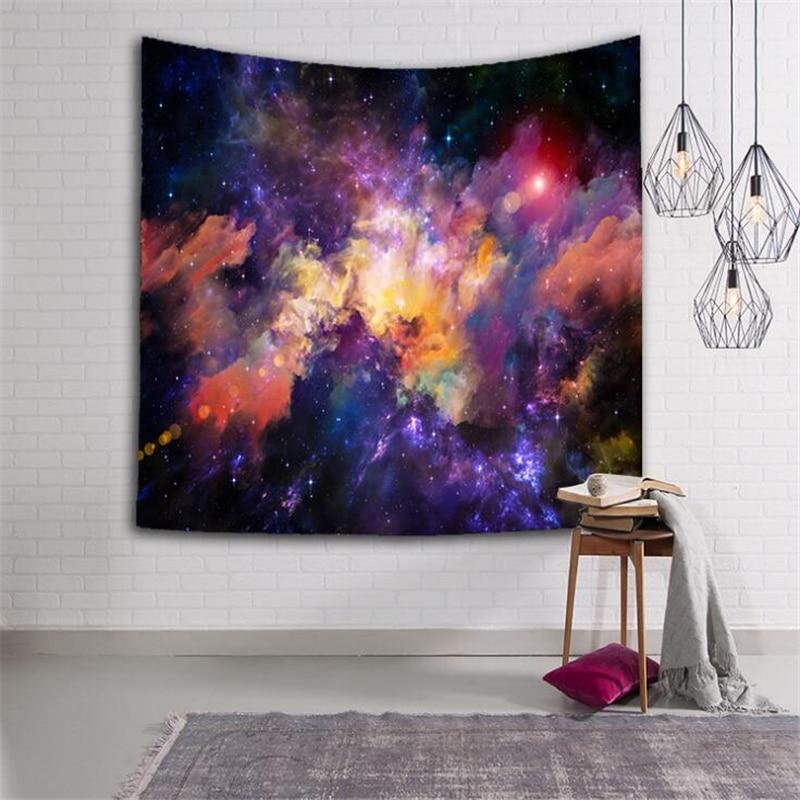 Di grandi Dimensioni Sky Galaxy Appeso A Parete Arazzo 150*130 CENTIMETRI Copriletto Spiaggia Yoga Zerbino Scialle Telo da bagno Coperta Da Picnic casa Partito Decor