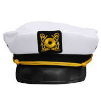 New Fashion Unisex Navy Captain Boating Military Hat Cap White Vintage Skipper Sailors Adult Party Fancy Dress Cosplay Hat