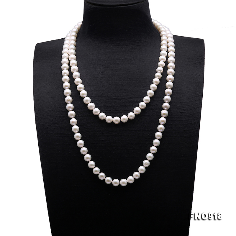 50/'/'10MM White round Freshwater Pearl Necklace