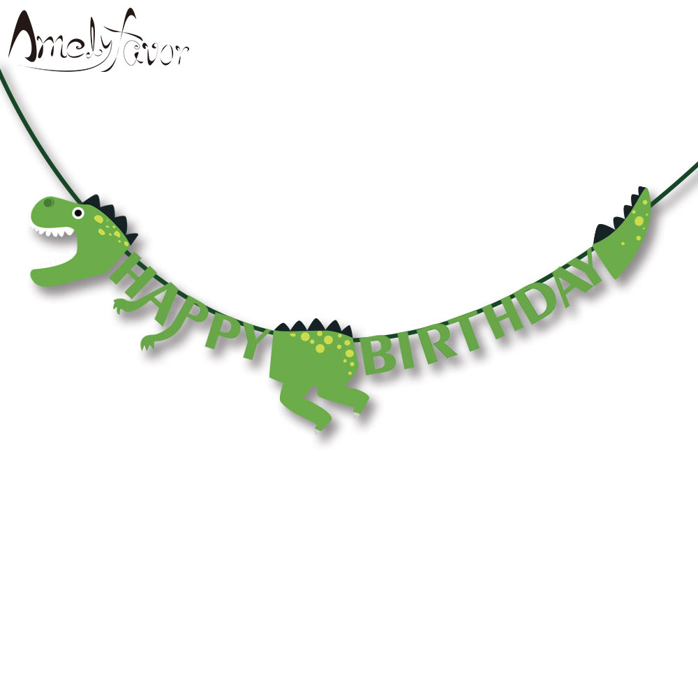 Dinosaur Party Banners Baby Shower Birthday Party Decorations Kids Event & Party Supplies Birthday Party Decorations Kids