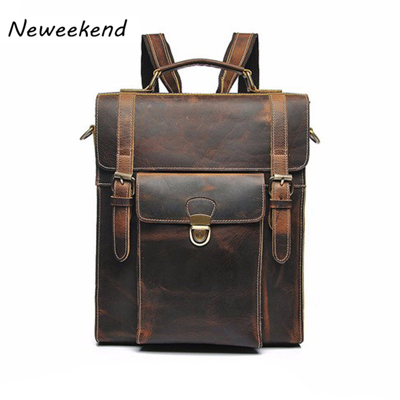 Men's Assured Genuine Leather Vintage Daily Mochila Women Backpacks Crossbody Shoulder Sling Bag for Teenage Girls YD-01072 женские сапоги ecco 263023 01072 14 263023 01072 01001