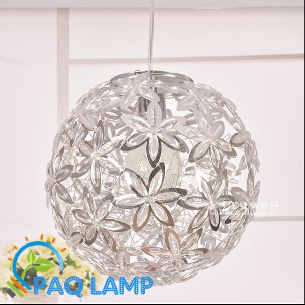 Modernas lâmpadas de pendente luzes LED 30 cm de Alumínio bola flores de cristal restaurante sala de Jantar iluminação Interior