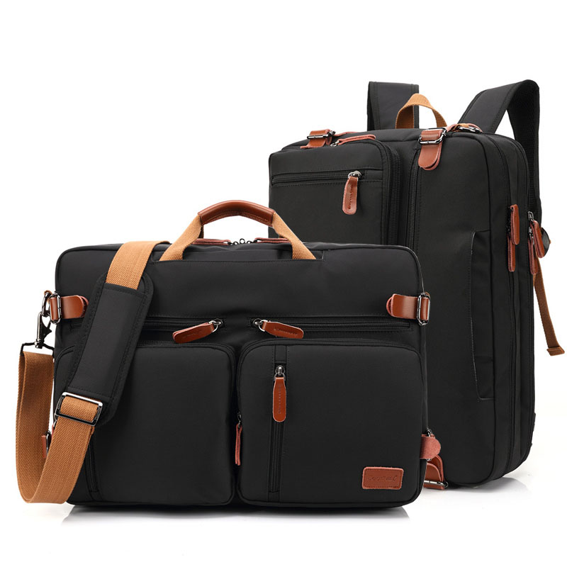 Briefcase Men Messenger-Bag Travel-Bags Business-Handbag Laptop Convertible 17inch Multifunctional