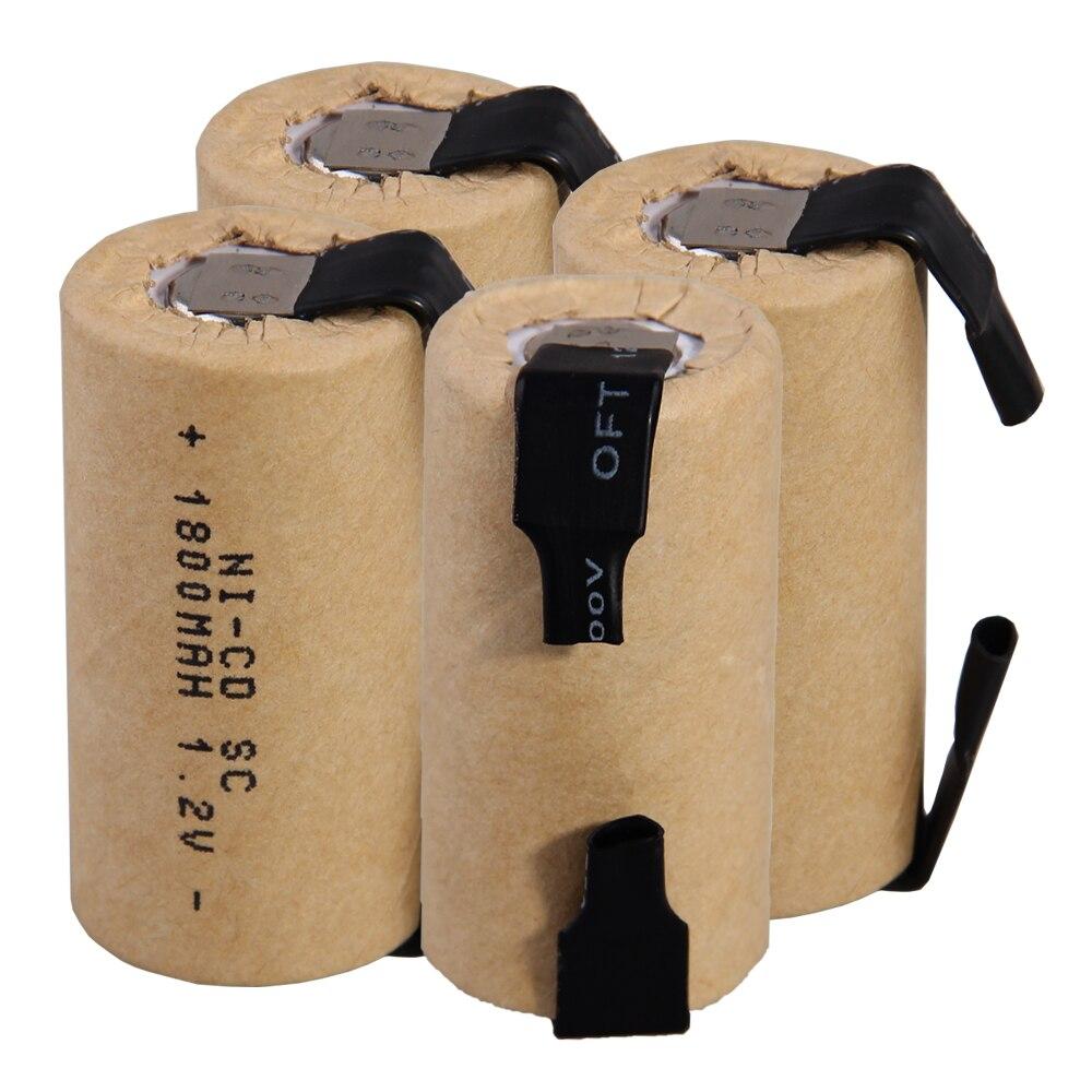 O mais baixo preço 4 peças sc bateria 1.2v baterias recarregáveis 1800 mah nicd bateria para ferramentas elétricas akkumulator