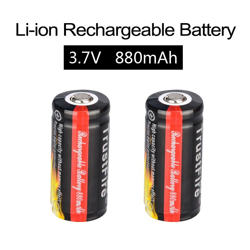 все цены на 2PCS TrustFire CR123A 3.7V 880mAh 16340 Protected Li-ion rechargeable battery for led flashlight 16340 battery with PCB онлайн