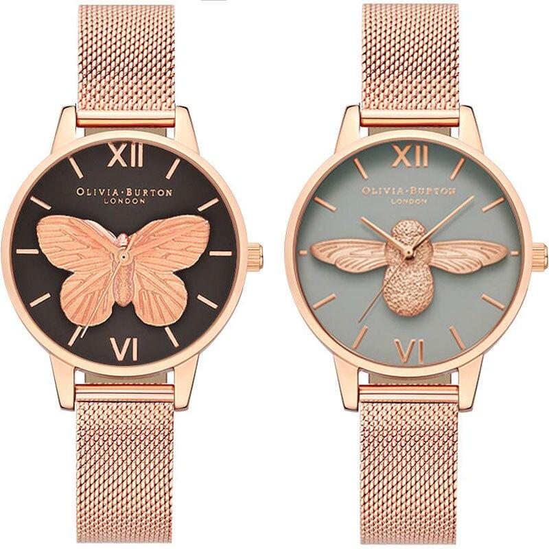Women's Watches olivia burton Fashion Women Wrist Watch Luxury Ladies Watch Women Bracelet Reloj Mujer Clock Relogio Feminino