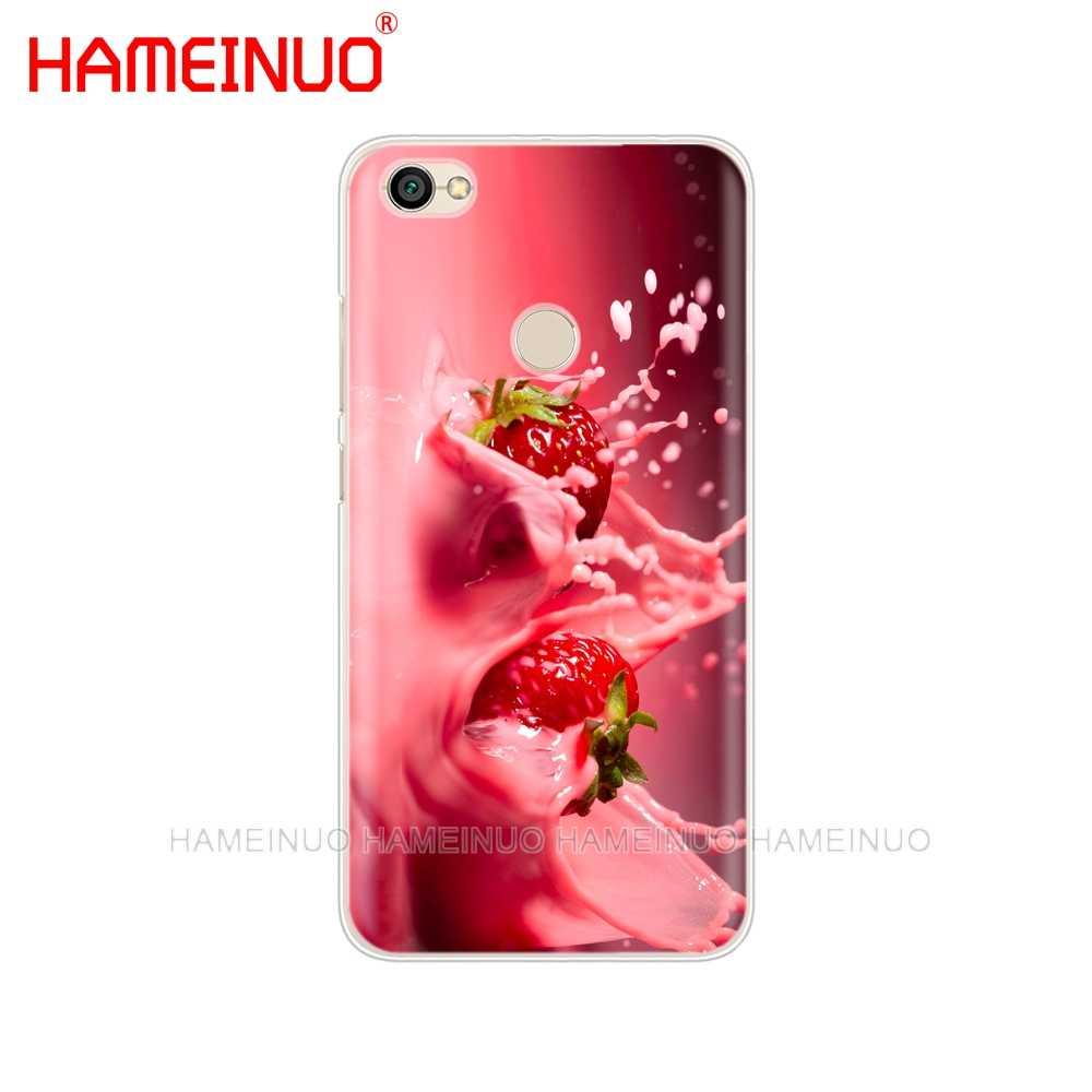 HAMEINUO клубника молоко фрукты чехол для телефона для Xiaomi redmi 5 4 1s 2 3 3s pro PLUS redmi note 4 4X 4A 5A