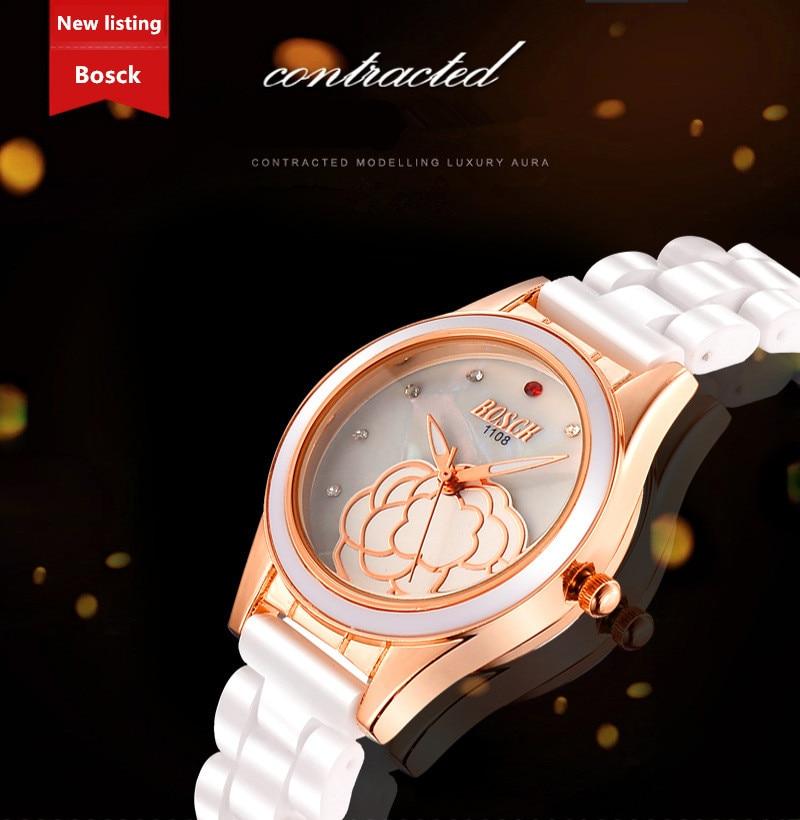 BOSCK 1181 Quartz Montre de Femmes Robe Horloge Montres relojes mujeres