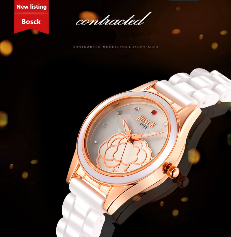BOSCK 1181 Quartz Watch Women's Dress Clock Wristwatches relojes mujeres