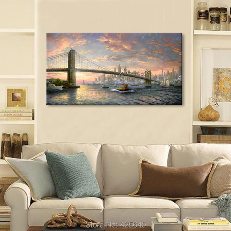 Framed Thomas Kinkade Oil Paintings The Spirit of New York Art Decor ...