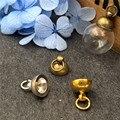 100 шт 8 мм бронза/серебро/золото цвет выбрать крышка кулон разъем для стеклянная крышка флакона DIY