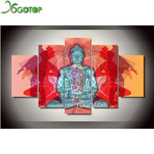 YOGOTOP DIY Diamond Painting Cross Stitch Kits Full Diamond Embroidery 5D Diamond Mosaic Needlework Buddha skulls 5pcs ML132 yogotop diy diamond painting cross stitch kits full diamond embroidery dolphins 5d diamond mosaic needlework 5pcs ml104