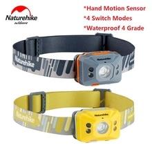Naturehike Outdoor light charging induction headlamp highlight waterproof outdoor led night fishing headlamp intelligent light