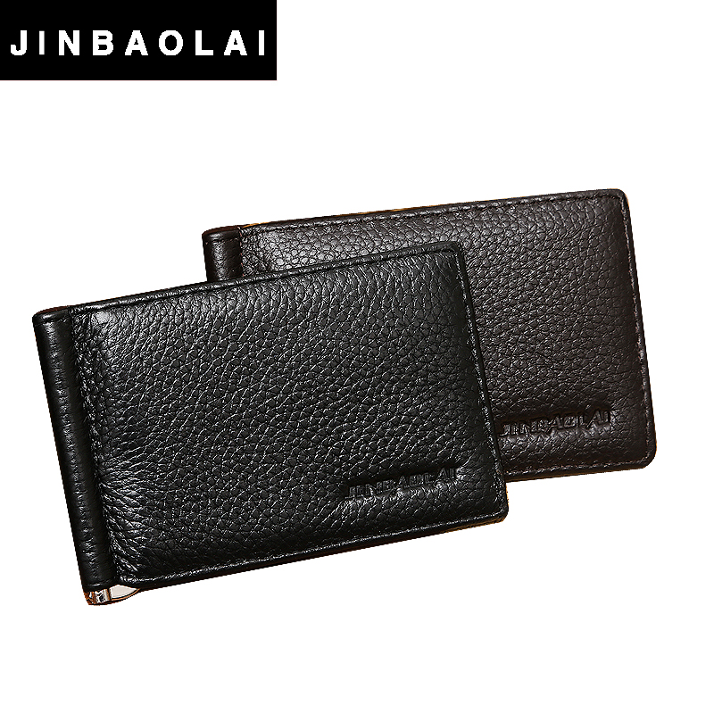 homens bifold carteira com grampo Estilo : Fashion Clip, business Mens Money Clip Wallet