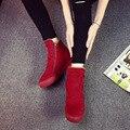 Бесплатная доставка 2016 зимняя мода молнии снегоступы женщин теплые ботинки