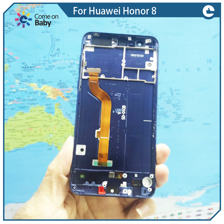 imágenes para Para Huawei Honor 8 Honor8 LCD display + Touch Screen Digitalizador Asamblea con marco de alta calidad 99% nuevo