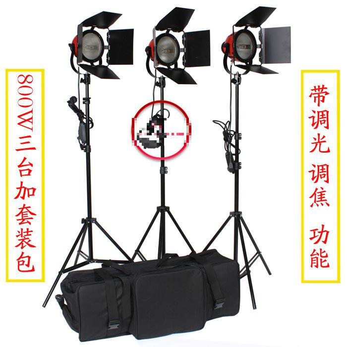 Adearstudio 800w CD50 Red Head Lamp Light Photography Video Light 3 Meters Power Line Three Pieces Studio Light Studio Lighting adearstudio adearstudio vl s08led video light set dimming lighting lamp battery