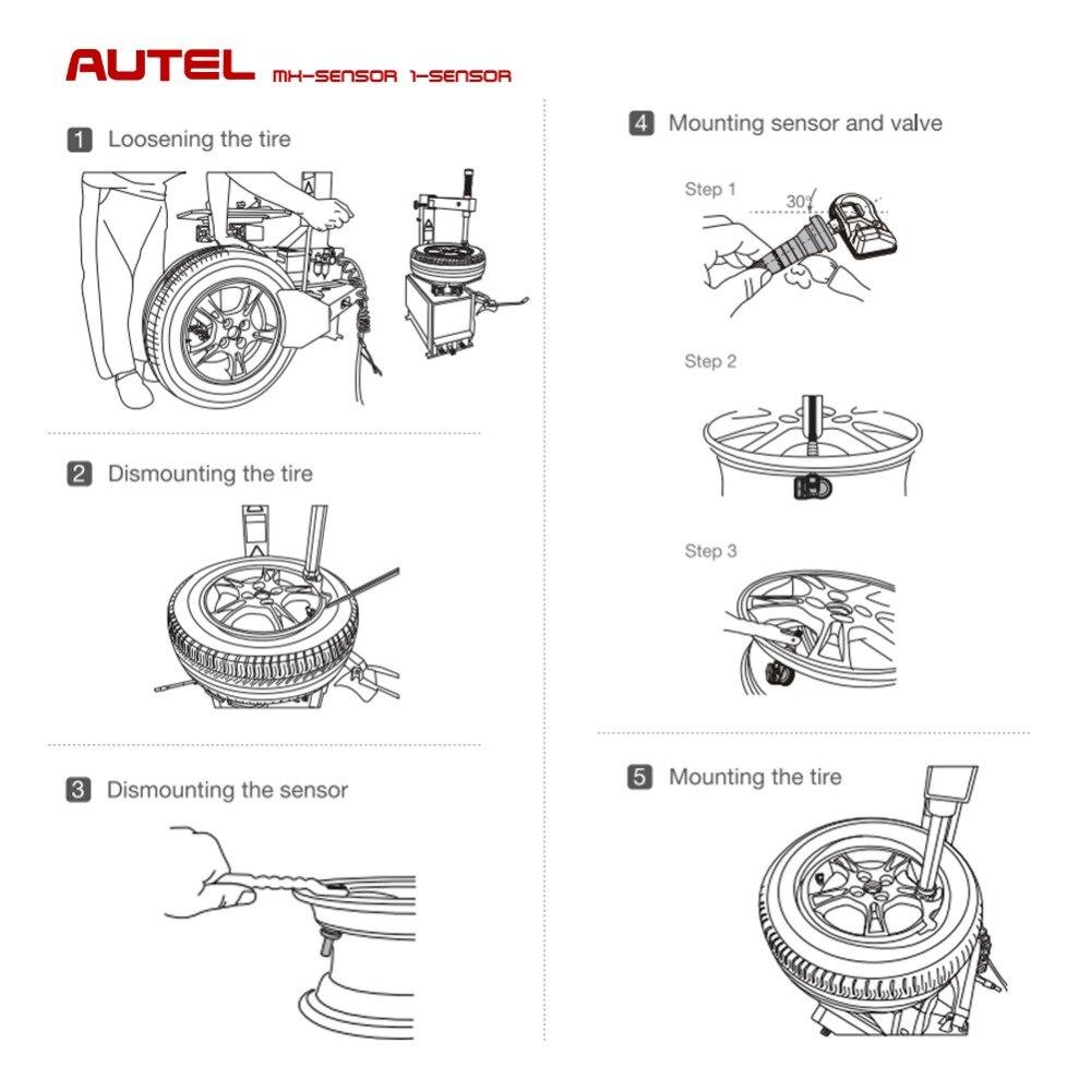 Image 3 - Autel MX Sensor 2 in 1 433MHz 315MHZ TPMS MX Sensor for Autel MaxiTPMS Pad Diagnostics tool Tire Pressure Programming Monitor