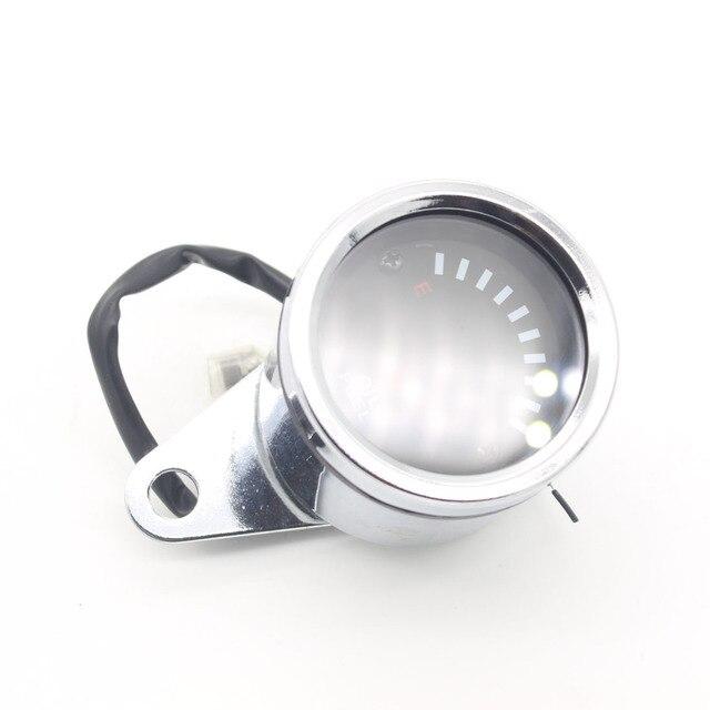 1X LED 12 В Мотоцикл Алюминиевого Сплава Измеритель Уровня Топлива Датчик Датчик Уровня топлива ремонт СВЕТОДИОДНЫЙ дисплей Электронный счетчик нефти Нефти масштаб