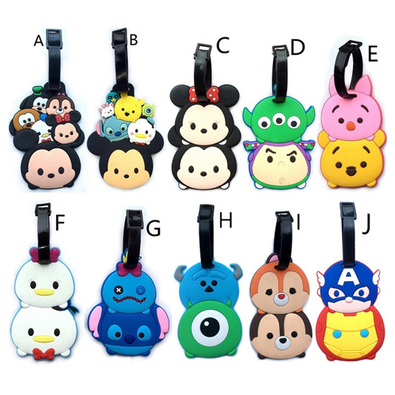 Travel Accessories New Portable Suitcase Label Classic Lovely Cartoon TSUM Luggage Tag ID Address Baggage Labels Boarding Tagsne