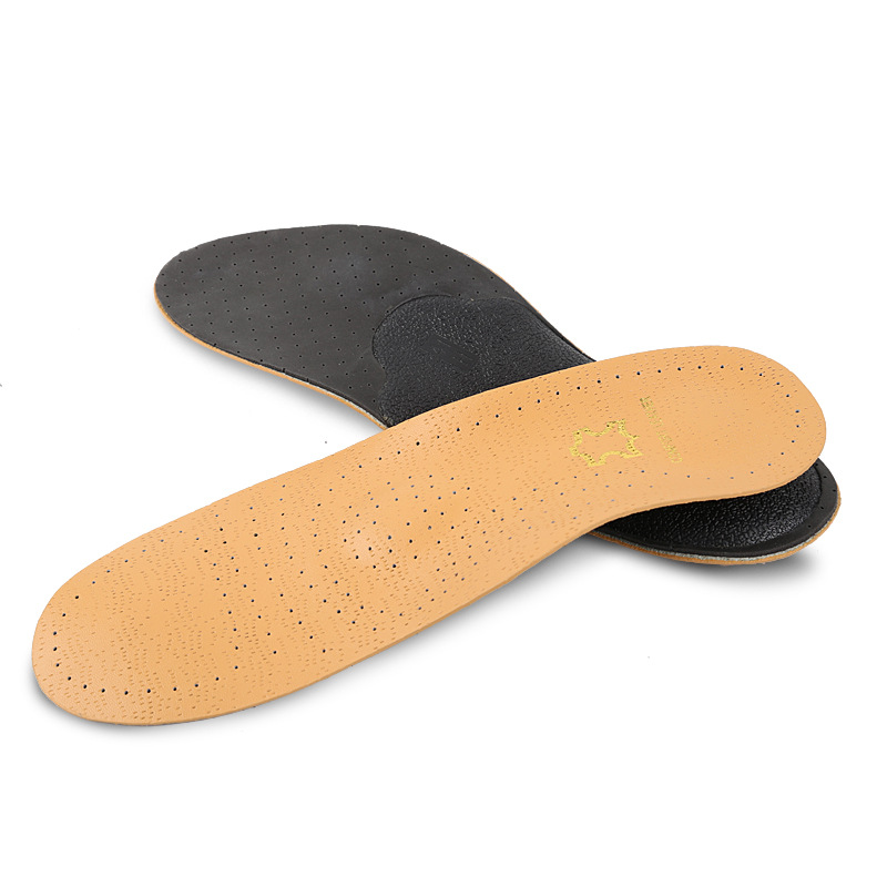 Leather Shoe Insole Arch Support Orthopedic Insoles Breathable Deodorization Damping Scholls Insoles Feet Care Soles For Shoes