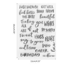 Silicone Word Clear Stamp