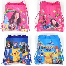 12Pcs Soy Luna Girl Cartoon Kids Drawstring Printed Backpack Shopping School Traveling Party Bags Birthday Gifts 34*27CM(China)