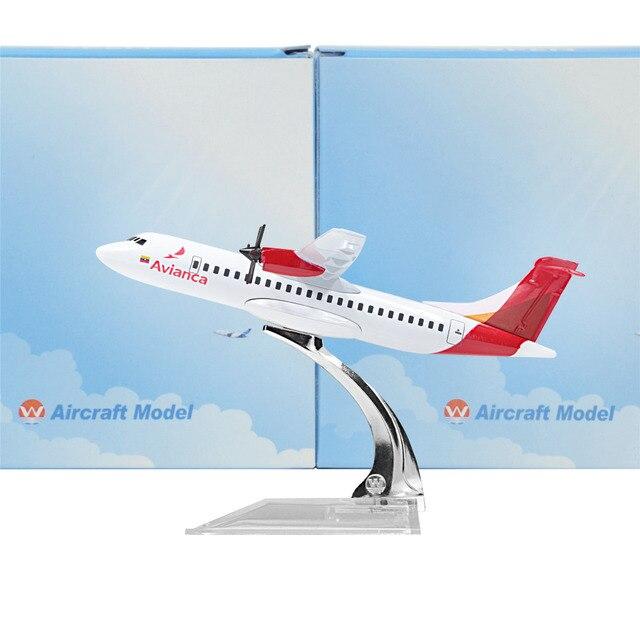 Colombia Avianca ATR 60 White 14cm Airplane Child Birthday Gift Plane  Models Toys Free Shipping