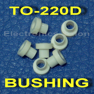 ( 50 Pcs/lot ) Insulation Bushing For TO-220D Transistor, Washer.