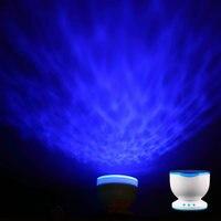 1 Pc Led Night Light Projector Ocean Daren Waves Projector Projection Lamp With Speaker Ocean Waves