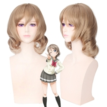 LoveLive!Sunshine!! Watanabe You Short Straight Cosplay Wig for Women Costume Party Anime Wig Flaxen junya watanabe бермуды