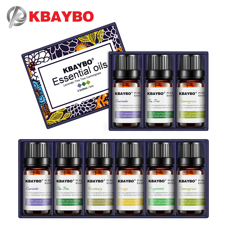 KBAYBO essential oils for aromatherapy diffusers	lavender tea tree lemongrass tea tree rosemary Orange oil