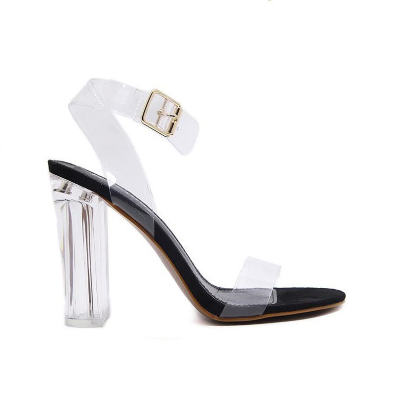 Image 3 - Silentsea transparente tacones de Mujer Zapatos de verano sandalias Sexy moda tacones claros para mujer zapatos de gran tamaño dropshipping-in Sandalias de mujer from zapatos on AliExpress