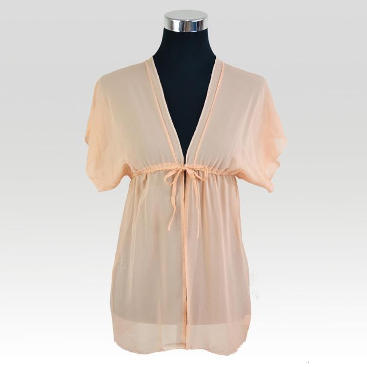 Silk Chiffon Sleepwear Natural Mulberry Silk Women Sleepwear Nightgown Classic Style Clearance Sale Promotion