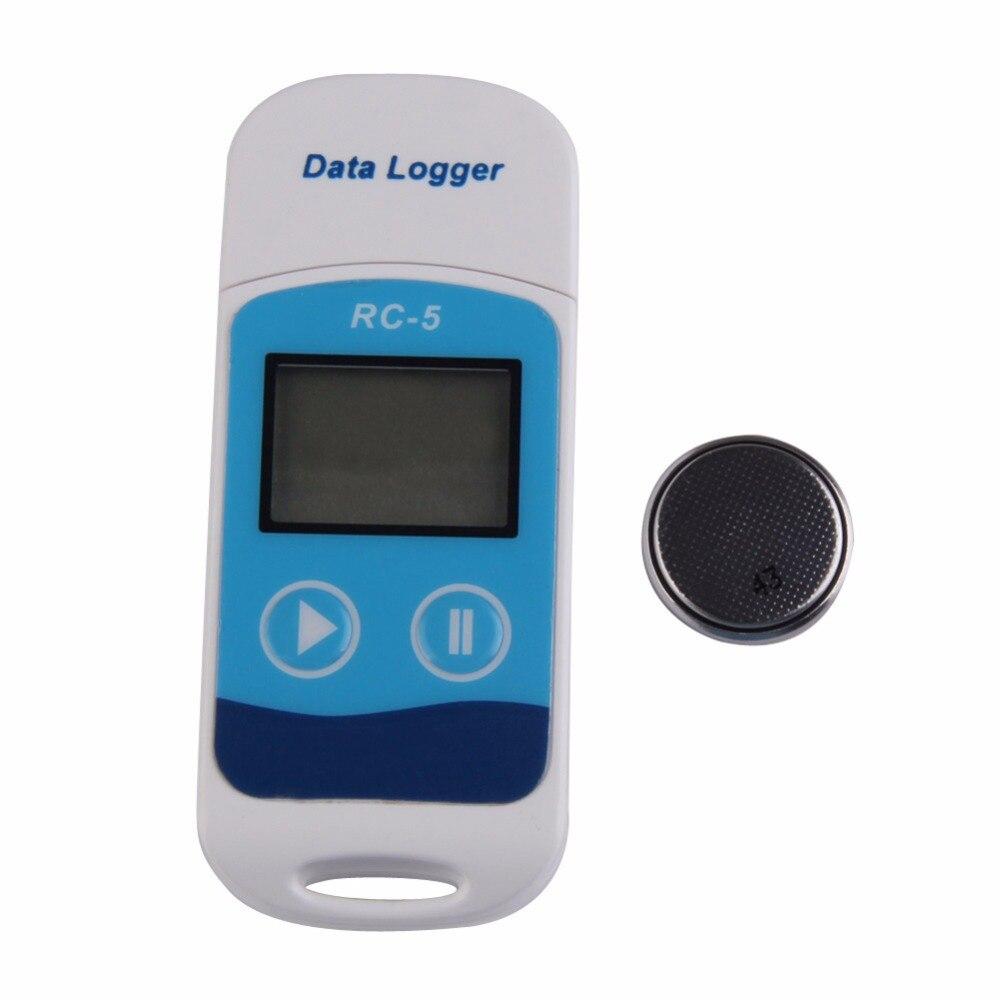 Numérique USB enregistreur de Données de Température de Haute Précision pour la Température C/F Enregistreur Capteur Interne pour La Logistique de stockage