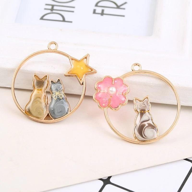 Stars Castle Heart Ribbon Moon 12pcs Gold Zinc Alloy Key Open Bezel Pendant Frame Resin Blanks for Jewelry DIY UV Crafts