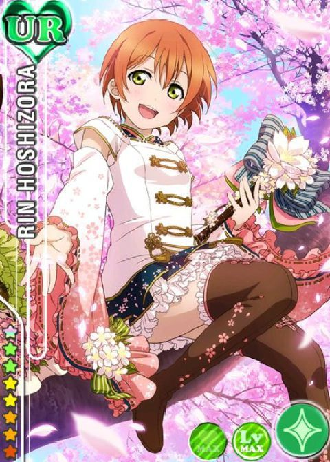 New LoveLive Card UR Flower Elf Rin Hoshizora Cosplay Costume Fancy Dress Halloween Costumes for Women S L