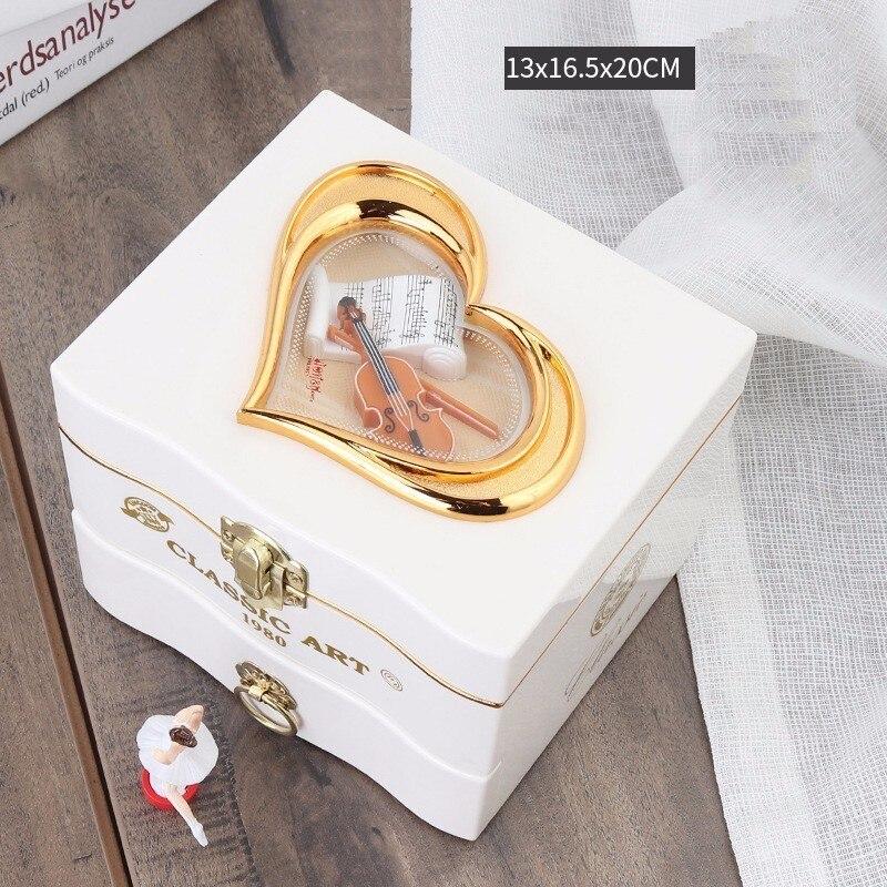 Классический вращающийся танцор балерина пианино музыкальная шкатулка заводная пластиковая шкатулка для ювелирных изделий для девочек ручной музыкальный механизм Рождественский подарок