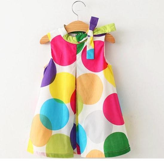 IMIHOUSE Summer Girls Dress Kids Bow Dot Children Clothing