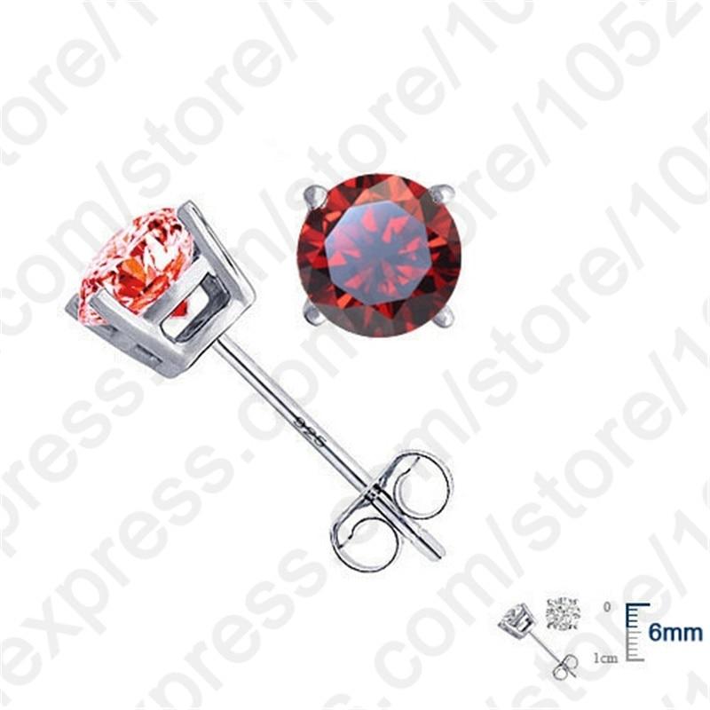 Jemmin Elegan Asli 925 Sterling Silver Kristal Stud Earrings Wanita - Perhiasan bagus - Foto 4