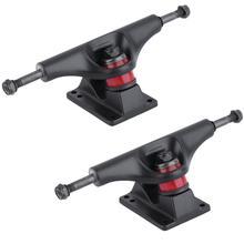 2Pcs Steel font b Skateboard b font font b Trucks b font BLACK font b Skateboard