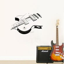 Envío Libre Guitarra Elétrica Musical Etiqueta de La Pared Del Arte Del Vinilo Mural de La Pared Habitación Decoración de La Pared Decorativa Casera Mural Y-656