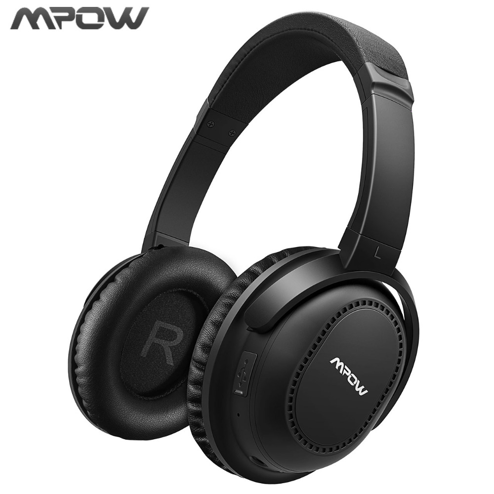 Original ANC Mpow New Active Noise Cancelling Headphones Headset Bluetooth 4.1 Headphones Wireless /Wired With Mic Carring Bag a01 bluetooth headset v4 1 wireless headphones noise cancelling with mic handsfree earpiece for driving ios android
