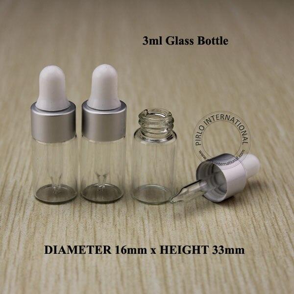 5pcs Hign Quality 3ml Transparent Essential Oil Bottle With Matte Silver Ring Dropper, Mini Perfume Sampling Dropper Vial