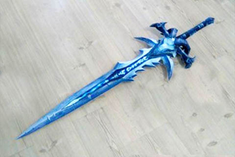 3D Paper Model Lich King Arthas FrostMourne Sword Weapon  Finished Length 1.2m