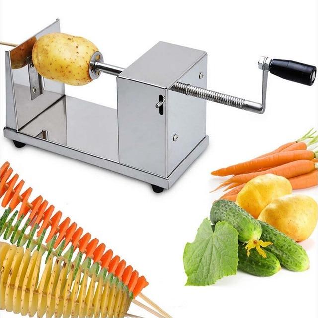 Utensilios De Cocina Online | 1 Pc Manual De Espiral Batata Chips Twister Slicer Cortador