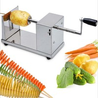 1 pc de pommes de terre en spirale Manuel chips twister coupeur tornado twist machine utensilios de cocina cortador pour batata espiral