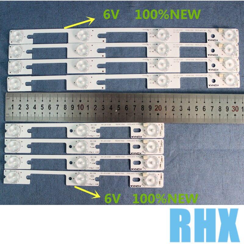 100 new 32 inch backlight strip 48PCS 24PCS 4LED 24PCS 3LED 1LED 6V KDL32MT626U 35019055 35019056